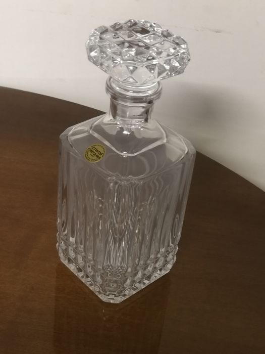 whisky decanter france cristal d 39 arques heavy crystal. Black Bedroom Furniture Sets. Home Design Ideas