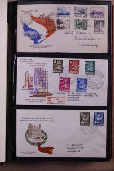 The Netherlands 1950/2015 - Complete collection of FDCs as of E2 in 6 albums