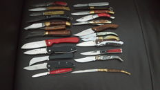 24 pocket knives - used - in great condition - this century