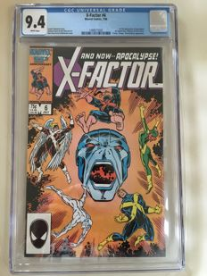 Marvel Comics - X-Factor #6 - 1st Full Appearance Of Apocalypse! - CGC Graded 9.4 - (1986)