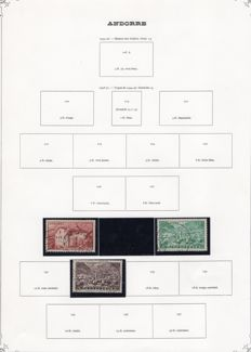 French Andorra 1948/1983 - Stamp collection, Post, Taxes, Airmail, block