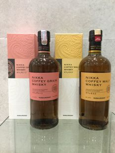2 bottles - Nikka Coffey Grain Whisky & Nikka Coffey Malt Whisky