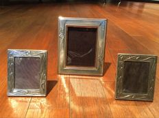 Three photo frames in silver 925/1000, Italy, 20th century