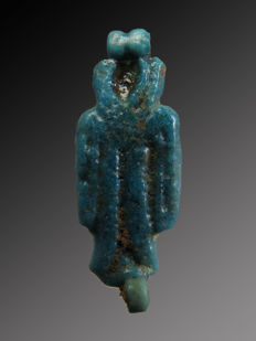 Egyptian faience Amarna Tyet amulet - 23 mm