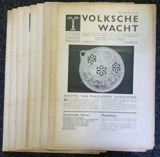 NSB; J. C. Nachenius a.o. - 9 copies of 'Volksche Wacht' - 1940/1941