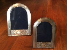 Two photo frames in silver 925/1000, 20th century
