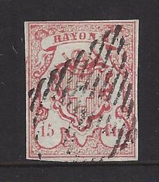 Switzerland 1852 – Rayon III – Michel 11a