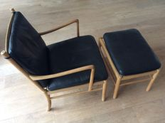 Ole Wanscher for Carl Hansen & Søn - OW149 Colonial Chair with ottoman.