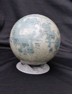 Lunar globe in metal
