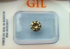 Diamond - 1.00 ct - Natural Fancy Intense Yellowish Green  SI1 - No Reserve Price