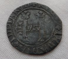Spain -  2 reales ca. 1545-1550 - Charles and Joanna - very rare - Santo Domingo