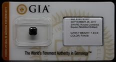 1.34 ct. GIA Certified Natural Fancy Black Diamond - NO RESERVE