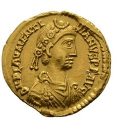 Roman Empire - Solidus of emperor Valentinianus III (425-455 A.D.) minted in Rome (au1719)