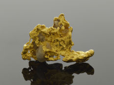 Gold nugget natural - 13.8 x 9.4 x 5.9 mm -  6.92 ct