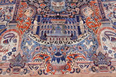 Beautiful Persian carpet picture Kashmar 3.95 x 2.90 Manchester wool very fine Zarathusa Persepolis Oriental carpet Top Condition