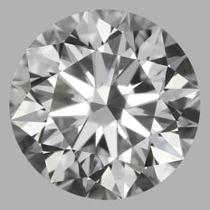Round Brilliant Diamond 0.50 Carat , D VS1  Cert: GIA  #DS-15 -original image10X