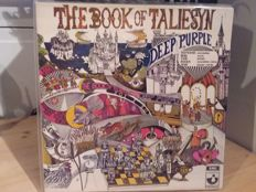 Lot of 4 Deep Purple or members - Book of taliesyn, signed by Ian Paice, Roger Glover - Elements, Green bullfrog