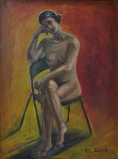 Unknown Artist (signed R.Locatelli) - Nudo di donna