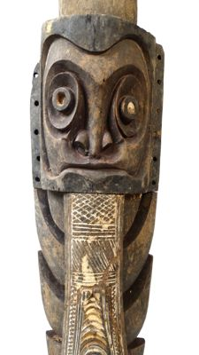 Old part of a initiation spear male society - Chambri lake - Papua New Guinea