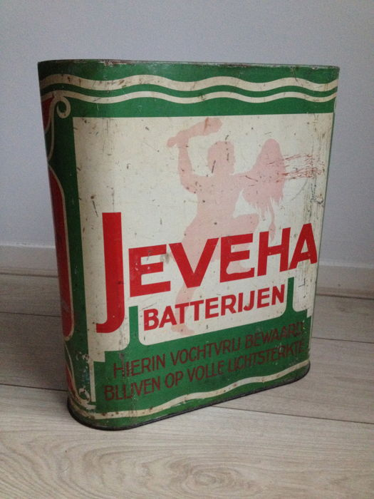 Jeveha shop tin / storage tin - ca. 1960