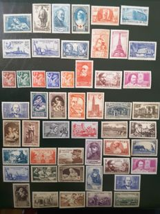 France 1939/1940 - 2 complete years without non-issued stamps - Yvert no. 419 - 469