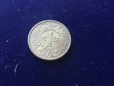 1 peseta Spain 1944, from cartridge, with all its original shine