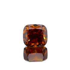 1.02 ct. Natural Fancy Deep Brown-Orange Cushion Cut Diamond, GIA Certified
