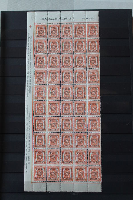 Belgium 1891/1968 - Collection of Railway stamps, Official stamps, Surcharge stamps and pre-cancelled stamps