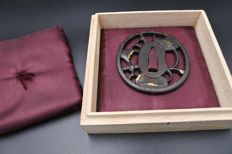 Antique gilted tsuba - Japan - 19th century (Edo Period)