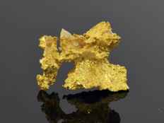 Gold nugget natural - 16 x 11 x 6 mm -  10.13 ct