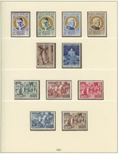 Vatican 1939/1972 - complete collection up to air mail and blocks with many good issues in SAFE dual album