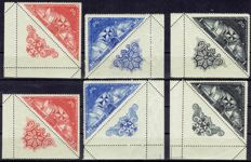 Spain 1930 - Discovery of America stamps - Edifil 539b, 539ba, 541a, 541ba, 543a, 543ba