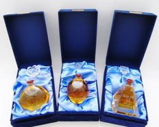 3 miniatures - Lombard Engraved Mini Decanter Collection