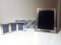 Pair of photo frames in silver - Spain - second half 20th century