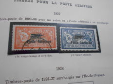 France 1937/1984 - Airmail and Catalogue End on album sheet