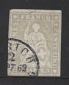 Switzerland 1862 – Strubel – Michel 19