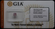 0.75 ct. GIA Certified Natural Fancy Purplish Pink Diamond - NO RESERVE