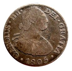 Spain - Charles IV (1788 - 1808), 2 silver reales of 1805 - Mexico (Mº)