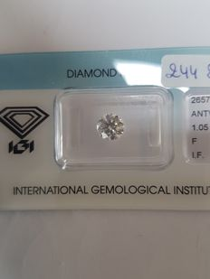 1.05 ct brilliant cut diamond, F I.F