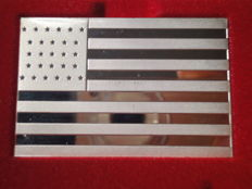 "Silver bar ""NINTH U.S. Flag, 1845"" by Franklin Mint  !!!!LIMITED EDITION OF ONLY 4892 pieces!!!!"