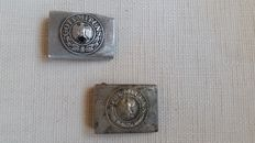 Two belt buckles: Heer and Reichswehr
