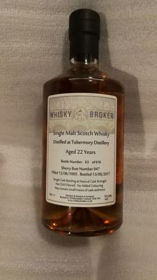 Tobermory 22 years old 1995-2017, 53.6% cask strength