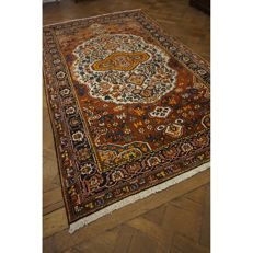 Authentic beautiful antique Persian BAKHTIAR carpet, Bakhtiari, hand-knotted, plant colours, made in Iran, 340 x 220 cm