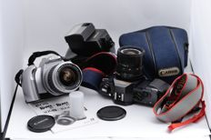 Lot of Canon T50 + FD 35-70 + 277T and Canon 300v + EF 28-90 + manual