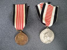 German South-West Africa colony - expedition corps - 2 medals - whites and blacks