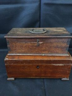Handmade Solid Wood Storage Boxes, Portugal, end 19th century
