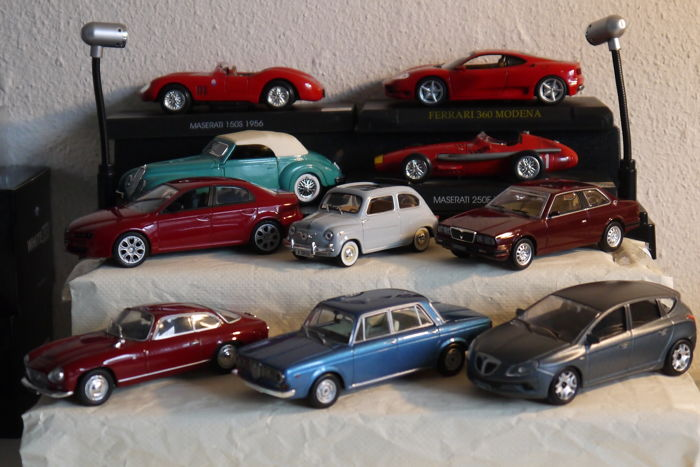 Norev / Solido / Starline - Scale 1/43 - Lot with 10 models: Ferrari, Maserati, Fiat, Alfa Romeo & Lancia