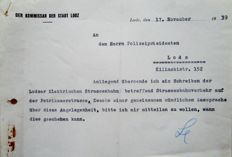 Letter from the Commissioner of the city of Lodz - Litzmannstadt - signed by Albert Leister