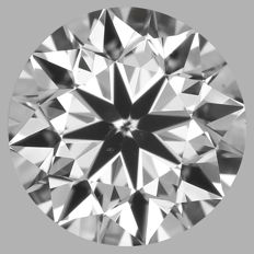 Round Brilliant Diamond 0.70 Carat , E VS2   Cert: GIA  #DS-27 -original image10X