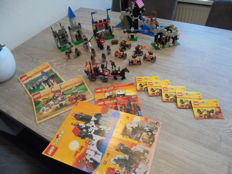 Lego Castle 6094 - 6095 - 6075 - 6036 - 6027 - 2538 5x - Guarded Treasury + Royal Joust + Wolfpack Tower + Skeleton Surprise + Bat Lord's Catapult  + Fright Knights Fire Cart